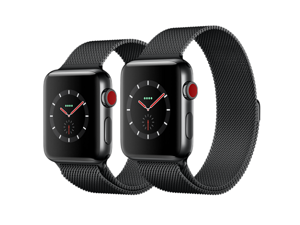 Apple Watch Space Black de Acero Inoxidable con Lazo Negro ...