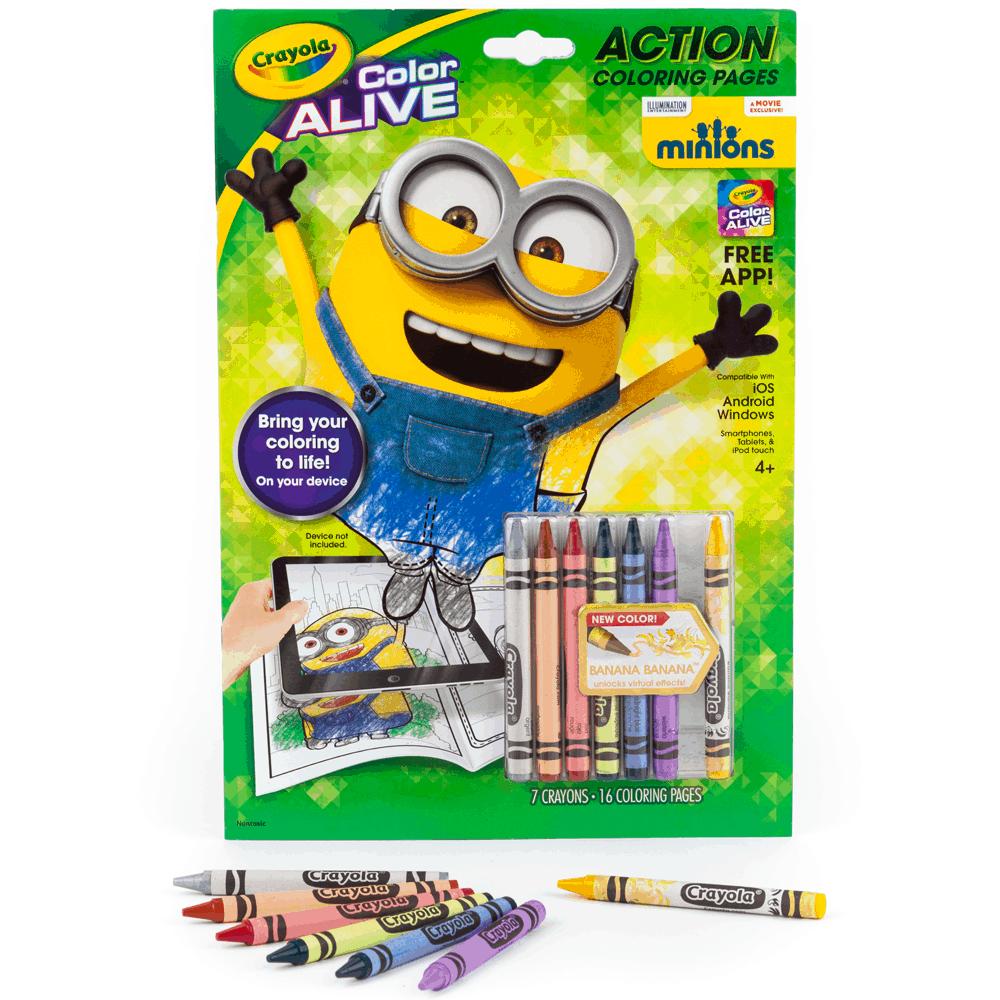 Cuaderno para colorear de Minions Crayola - LlevaUno: Ofertas en ...