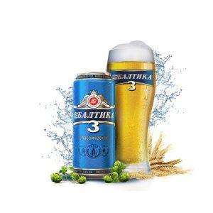 24 Latas de cerveza Baltika 3 de 500 ml