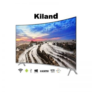 Smart TV Kiland 55″ Curved 4K con 2 controles y Soporte de pared