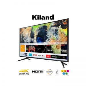 Smart TV Kiland 75″ 4K con 2 controles y Soporte de pared