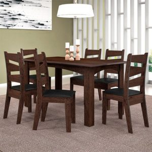 Conjunto Comedor Monique 6 Sillas Isis