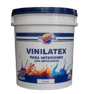 Pintura latex de color Blanco de 18 Lts. VINILATEX