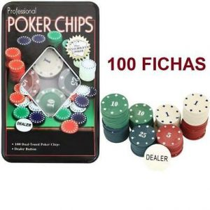 Texas Holdem Juego pro game set 100 fichas