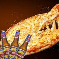 Para disfrutar entre amigos; dos Pizzas de Muzzarella + 20 Pilsen'í
