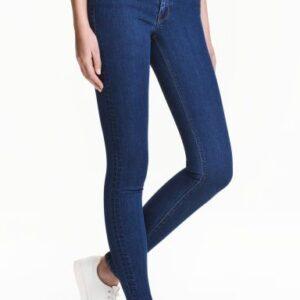 Pantalón Skinny dama azul