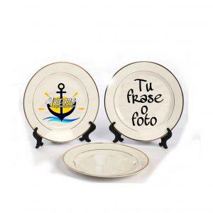 Platos de porcelana personalizados